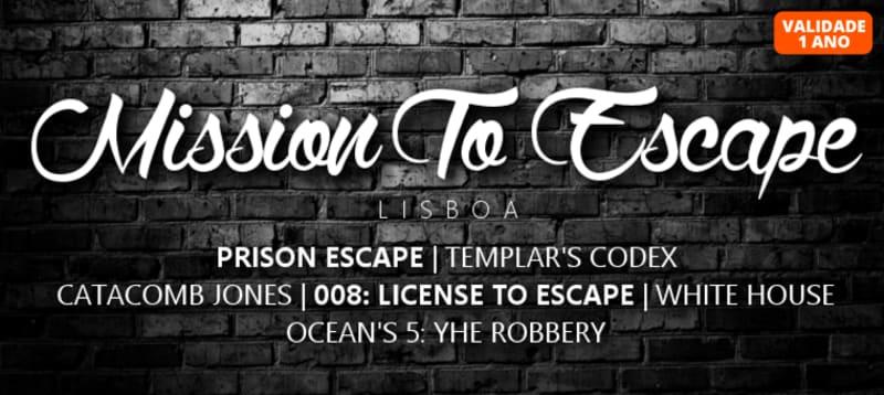 Mission to Escape - 6 Escape Rooms   2 Pessoas