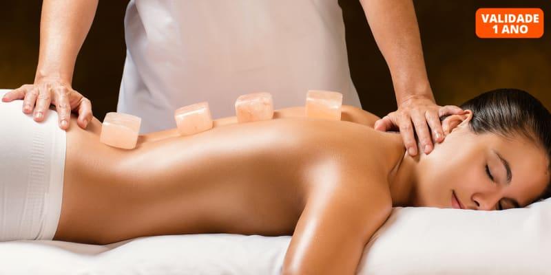 Massagem de Velas, Pedras Quentes, Relaxamento ou Sal dos Himalaias - 45 Minutos   Saldanha
