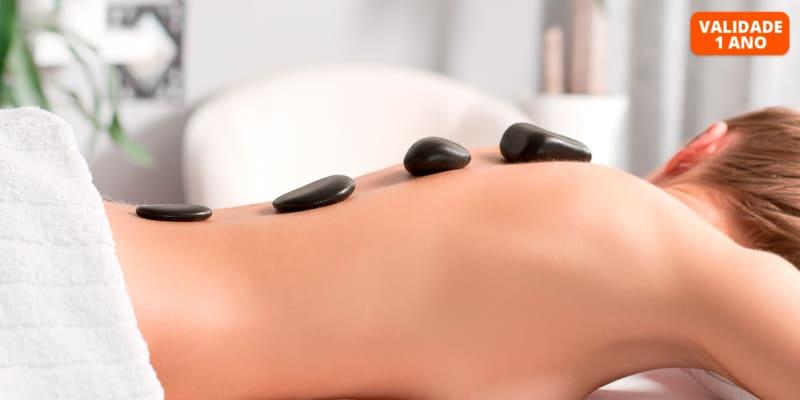 Massagem Corporal c/ Pedras Quentes & Drenagem Linfática Facial | 1h30 | Alvalade e Alameda