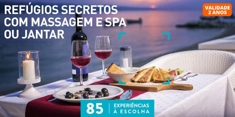 Refúgios Secretos com Massagem e SPA ou Jantar   85 Estadias à Escolha