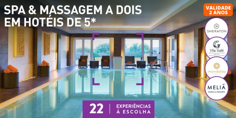 Spa & Massagem a Dois em Hotéis de 5* | 22 Locais à Escolha