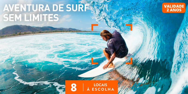 Aventura de Surf Sem Limites   8 Locais à Escolha