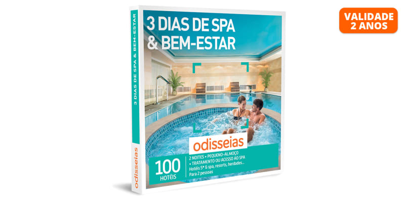 3 Dias de SPA & Bem-Estar | 100 Hotéis