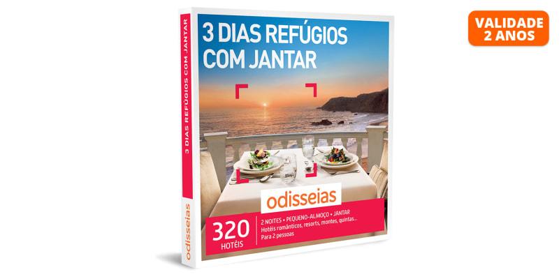 3 Dias Refúgios com Jantar   320 Hotéis