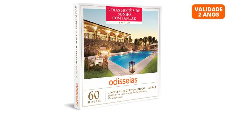 3 Dias Hotéis de Sonho com Jantar   60 Hotéis