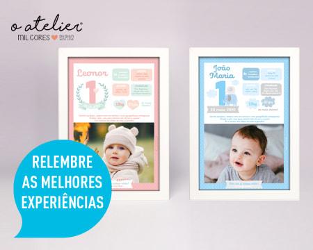Quadro Personalizado c/ Foto e Texto para Celebrar o Aniversário da Criança | Entregue em Casa