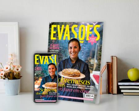 Subscrição de 6 Meses da Revista Evasões - Papel + Digital | 26 Edições c/ Entrega Grátis