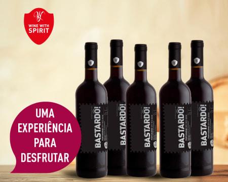 6 Garrafas de Vinho Bastardô! Black Edition Tinto | Entrega Grátis! Wine With Spirit