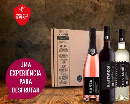 Cabaz Emotions - 3 Garrafas de Vinho Bastardô! & Basta! | Entrega Grátis! Wine With Spirit