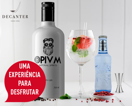 Faça Gin em Casa! Entrega Grátis | Gin Opivm Dry + 6 Águas Tónicas + 6 Copos + Especiaria + Acessórios