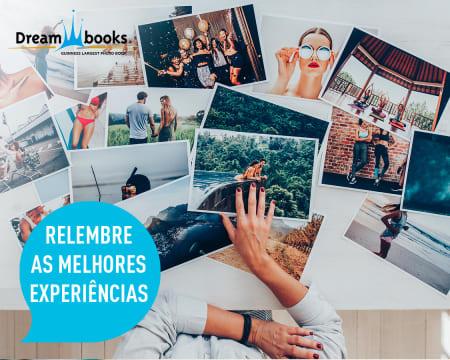 Revelação de 100 Fotos 10x15 em Papel Fotográfico | Entregue em Casa | Dreambooks