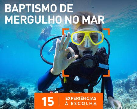 Baptismo de Mergulho no Mar   15 Experiências à Escolha