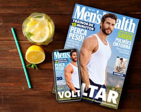 Subscrição de 1 Ano da Revista Men´s Health - Papel + Digital | 12 Edições c/ Entrega Grátis