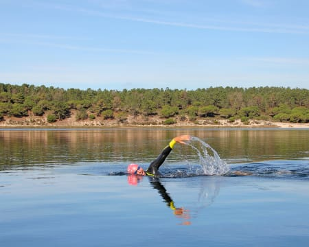Sessão de Treino com Nadador de Águas Abertas Profissional | Lagoa de Albufeira