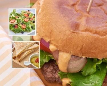Nachos + Hambúrgueres + Cookies + Bebidas | 2 Pessoas | Our American Way
