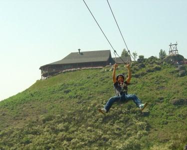 Slide Duplo no Parque Diver Lanhoso