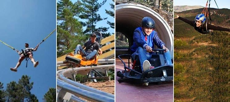 Pena Aventura Park a 2 | Fantasticable + Alpine Coaster + Percurso Aventura + Salto Negativo | V.Real