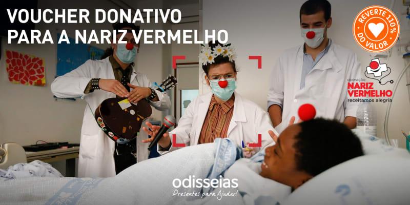 Presentes para Ajudar! Voucher Donativo para a Operação Nariz Vermelho
