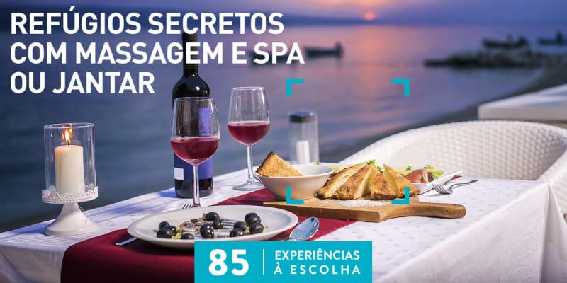 Refúgios Secretos com Massagem e SPA ou Jantar | 85 Estadias à Escolha