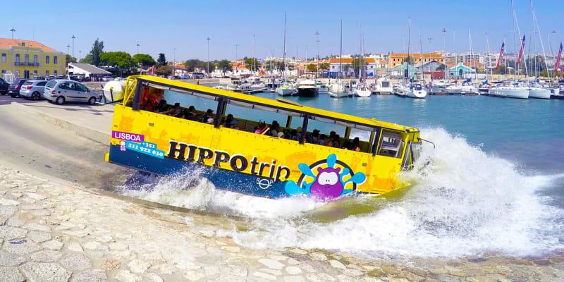 HIPPOtrip + Shuttle Hop On Hop Off | Passeio em Lisboa por Terra e Água - Bilhete de Criança ou Adulto