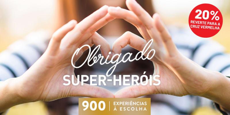Obrigado Super Heróis | 900 Experiências à Escolha