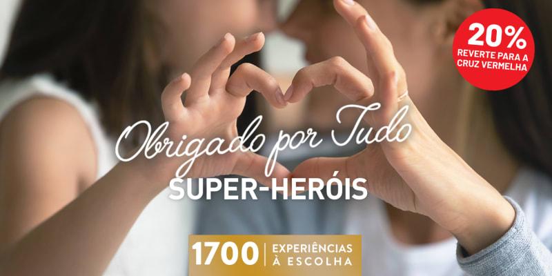 Obrigado Por Tudo! Super Heróis | 1700 Experiências