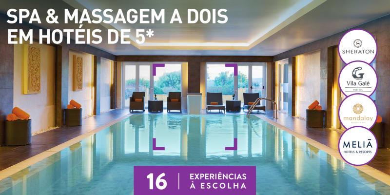 Spa & Massagem a Dois em Hotéis de 5*   16 Locais à Escolha