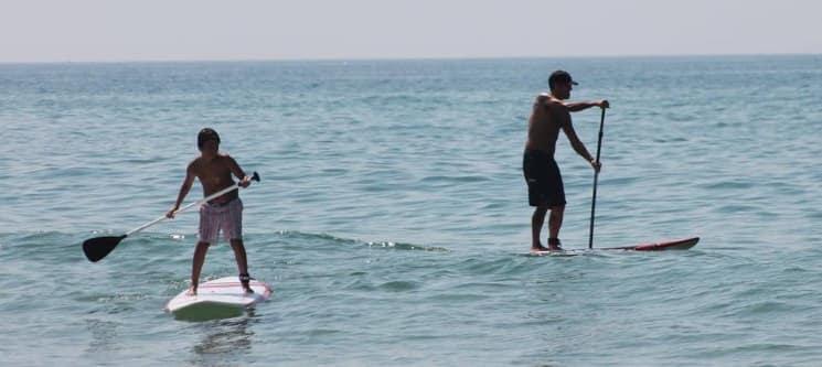 Aprender SUP nas Águas da Caparica em 4 Horas | Curso Teórico e Prático p/ 1 ou 2 Pessoas