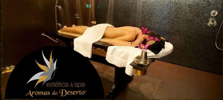Duche Vichy + Massagem + Ritual Chá | 1 Hora | Aromas do Deserto Braga