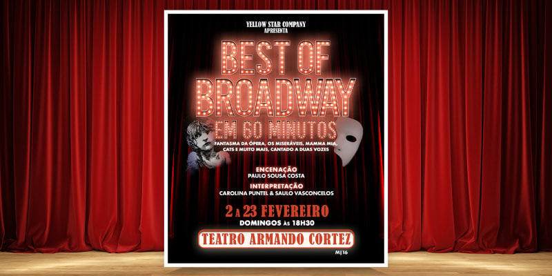 Musical «Best of Broadway em 60 Minutos» | Teatro Armando Cortez