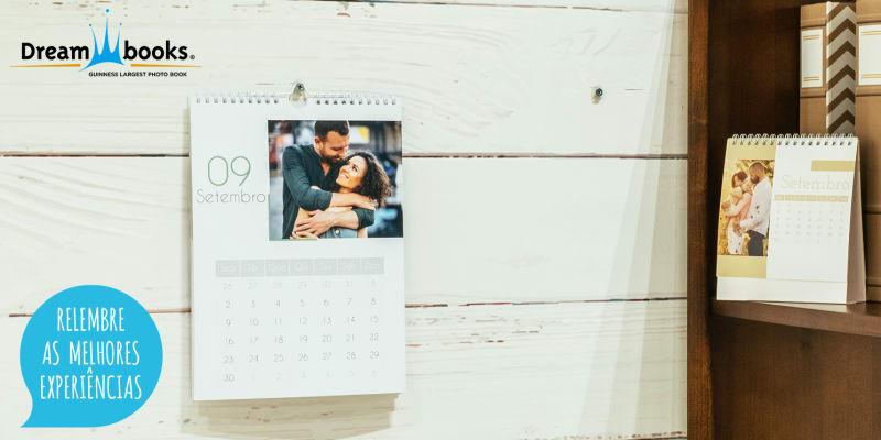 Calendário Personalizável - Parede ou Mesa | Não Esqueça as Datas Importantes da Sua Vida! Dreambooks