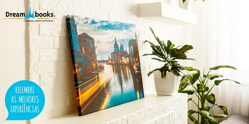 Tela Decorativa Personalizável | Decore a Sua Casa c/ Recordações Especiais! Dreambooks