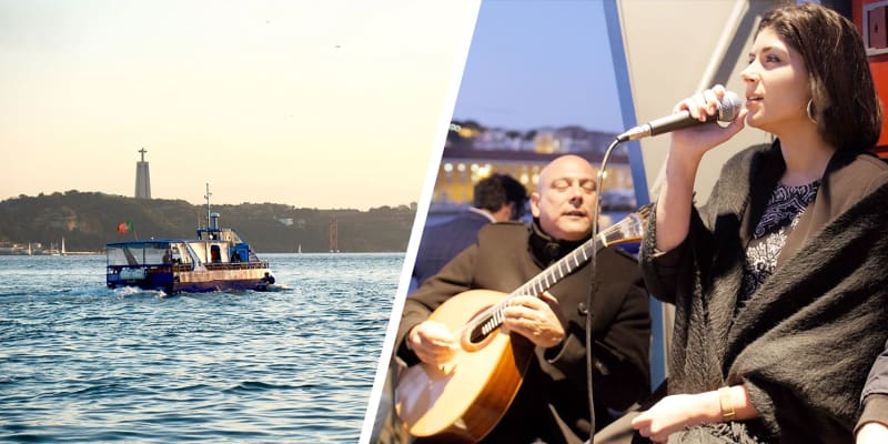 «Fado On The River» Cruzeiro Turístico no Tejo com Petisco e Bebida | 1 Hora | Lisboat