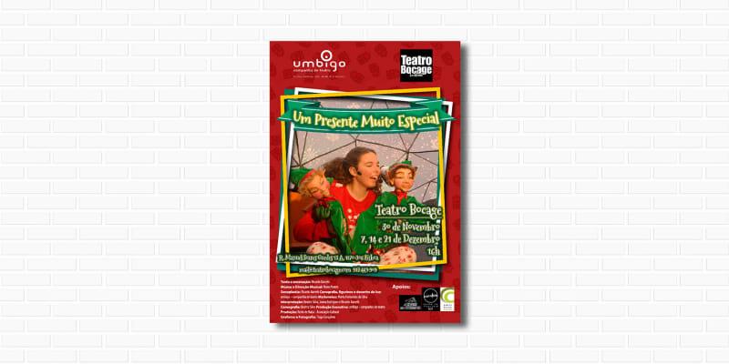 «Um Presente Muito Especial» - Bilhete Duplo | Espectáculo de Natal no Teatro Bocage