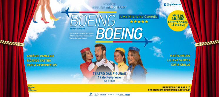 «Boeing Boeing» Uma Hilariante Comédia - 17 Fevereiro | Teatro das Figuras - Faro