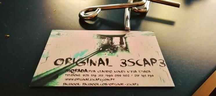Novidade! Original 3scap3 - Escape Game até 6 Pessoas | Lisboa
