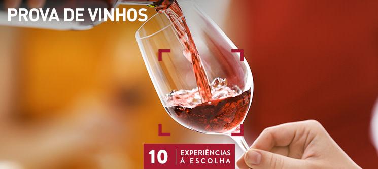 Prova de Vinhos para 1 ou 2 Pessoas | 10 Locais à Escolha