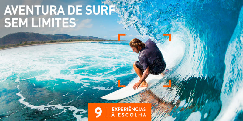 Aventura de Surf Sem Limites | 9 Locais à Escolha