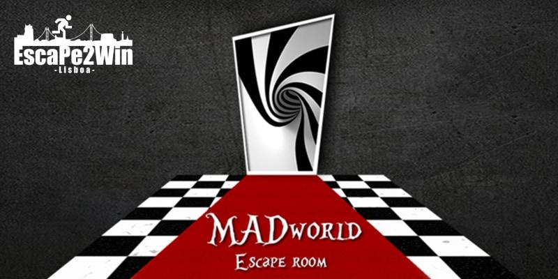 Escape Room Mad World - O Novo Desafio da Escape2Win! 2 a 5 Pessoas | Algés