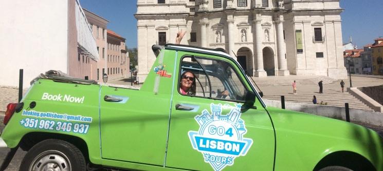 Conhecer Lisboa ou Sintra a bordo de uma Renault 4L | Tour até 4 Pessoas