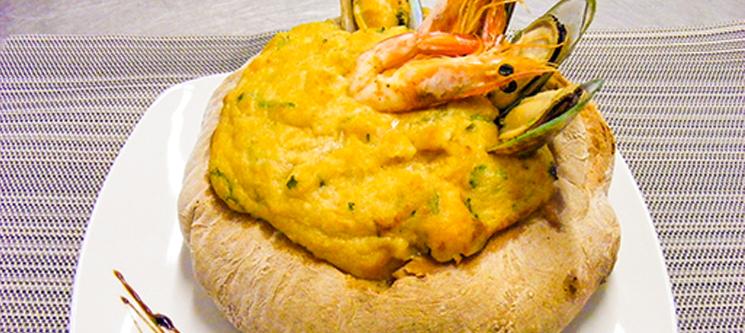 Portofino Restaurante para Dois | Açorda de Mariscos no Pão para Dois - Sesimbra