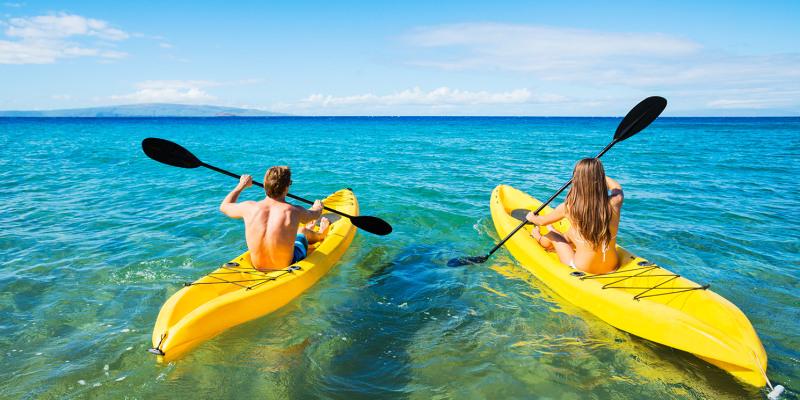 Passeio de Kayak para 2 em Albufeira | 1 Hora | Nauticdrive - Algarve