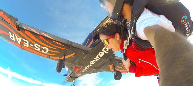 Salto Tandem de 3000m no Alentejo c/ Skydive Europe | Máxima Adrenalina