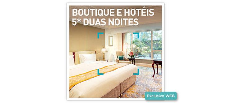 Boutique e Hotéis 5* - 2 Noites | 12 Estadias à escolha