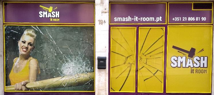 Smash It Room «Queres Vir Partir-me o Coração?» Liberte o Stress a Dois | Sete Rios
