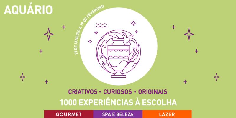 Especial Zodíaco: Aquário   1000 Experiências