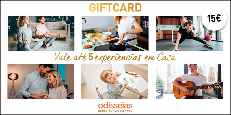 Gift Voucher 15 Euros - Vale Até 5 Experiências em Casa