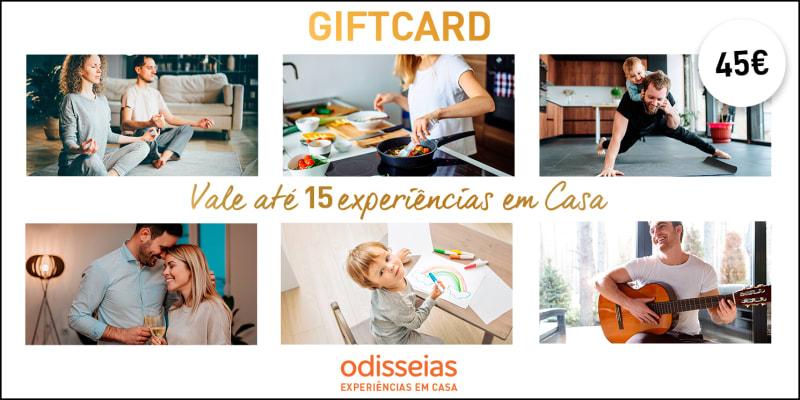 Gift Voucher 45 Euros - Vale Até 15 Experiências em Casa