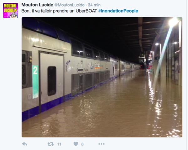 Inondations 2016 : un bon crue pour les gags