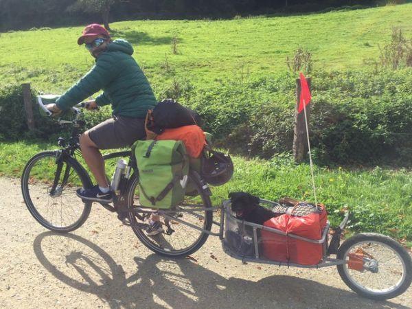 A bicyclette avec Paulette … en Mayenne
